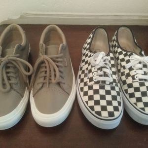 Vans (Golden Coast) Black / Off White Checkerboard